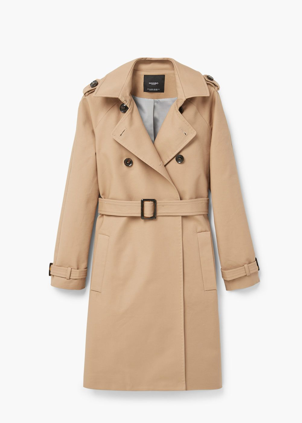 Double breasted trench Women | Mango USA | Trençkot, Manto