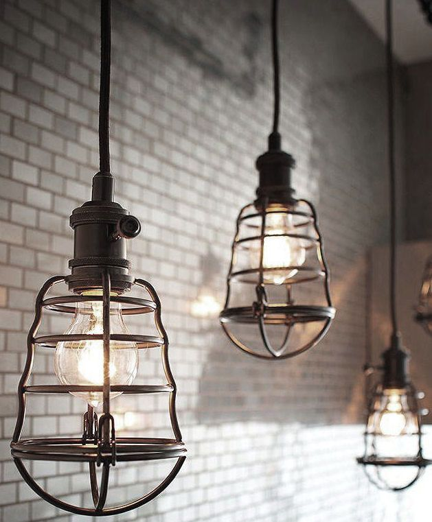 Pin by lucy mndez on proyecto pinterest industrial loft searching for lovely lights for our kitchen renovations loving these super cool cage lights mozeypictures Image collections