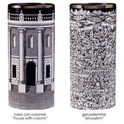 Fornasetti Umbrellas and Holders. A beautiful selection of both umbrellas and umbrella holders from the luxurious Italian house of design.