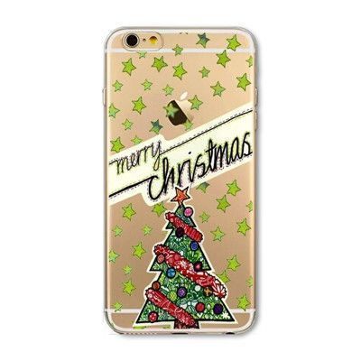 Christmas Cover For iPhone Cute Soft Phone Case 6 6S 5 5S SE 6Plus