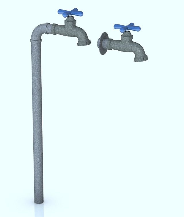 3D Outdoor Water Faucet Models for Poser and DAZ Studio - Poser ...