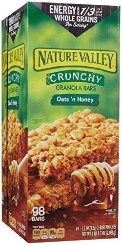 Nature Valley Crunchy Granola Bars Honey Oat 98 Bars 49 Ct 2 In A Pack Naturevalley Nature Valley Crunchy Granola Bars Fruity Snacks Crunchy Granola