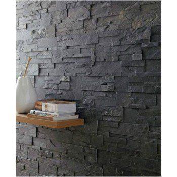 plaquette de parement pierre naturelle noir elegance. Black Bedroom Furniture Sets. Home Design Ideas