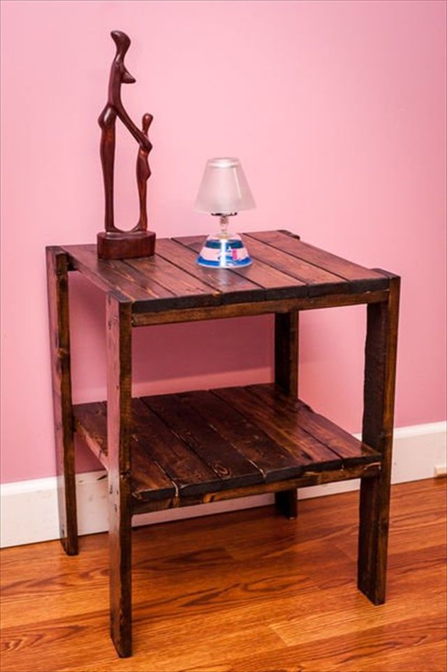 26 DIY Pallet Side Table   Pallets, Living rooms and Pallet side table