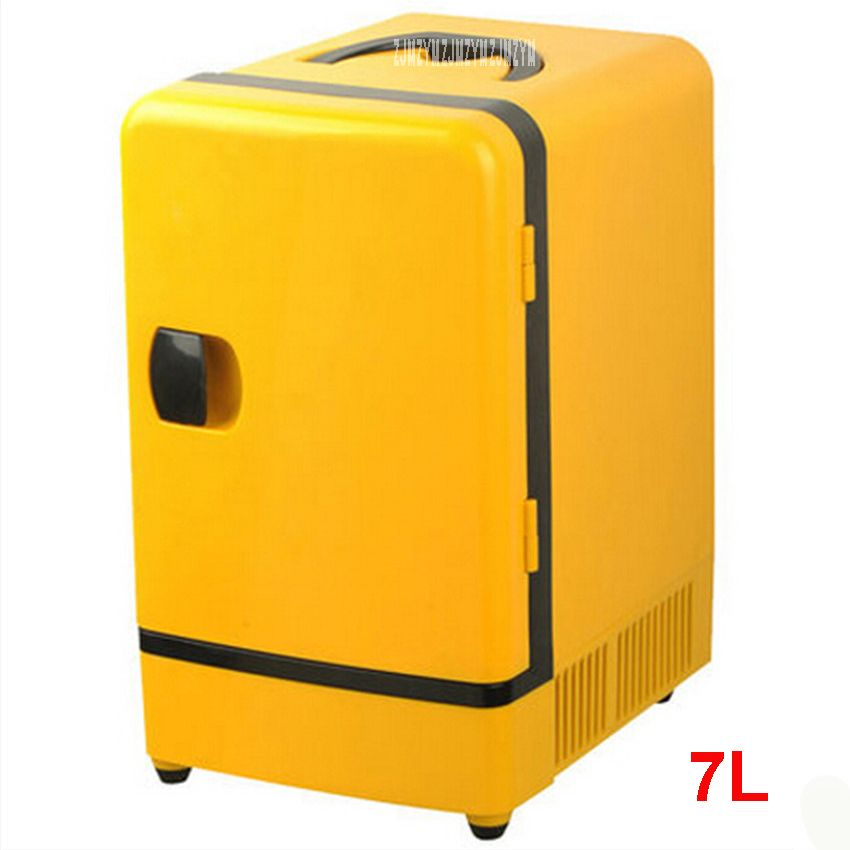 Double Use 12 V 7l Mini Fridge Portable Car Multi Function Warmer Travel Home Camping Cooler Car Fridge 36 48w Refrig Camping Coolers Mini Fridge Fridge Cooler