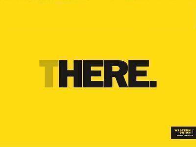 Western Union gets their message across in a very simple design.