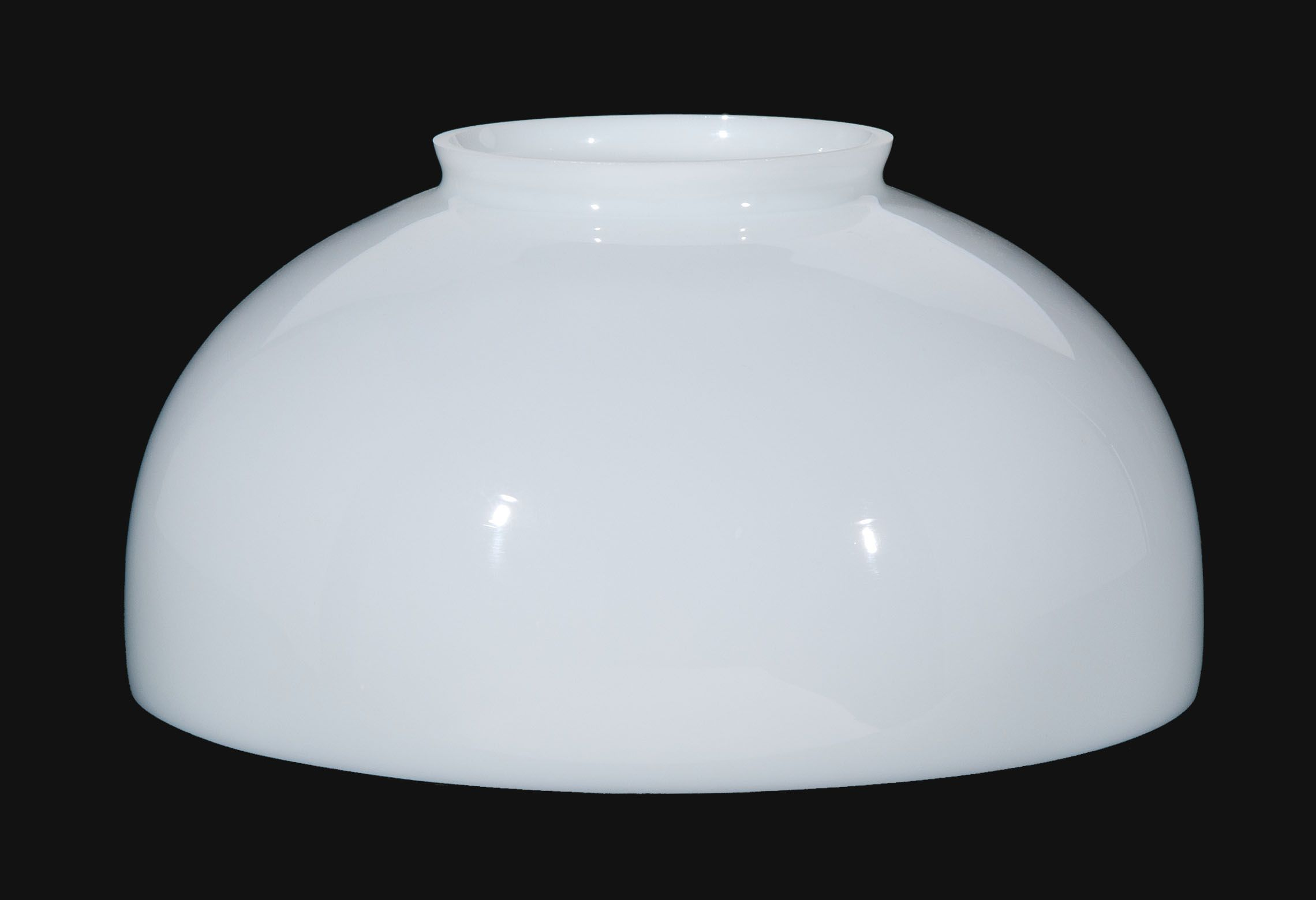14 Inch Fitter Usa Made Opal Glass Dome Shade Glass