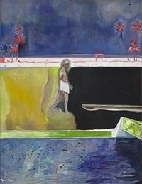 Walking Figure by Pool, 2011