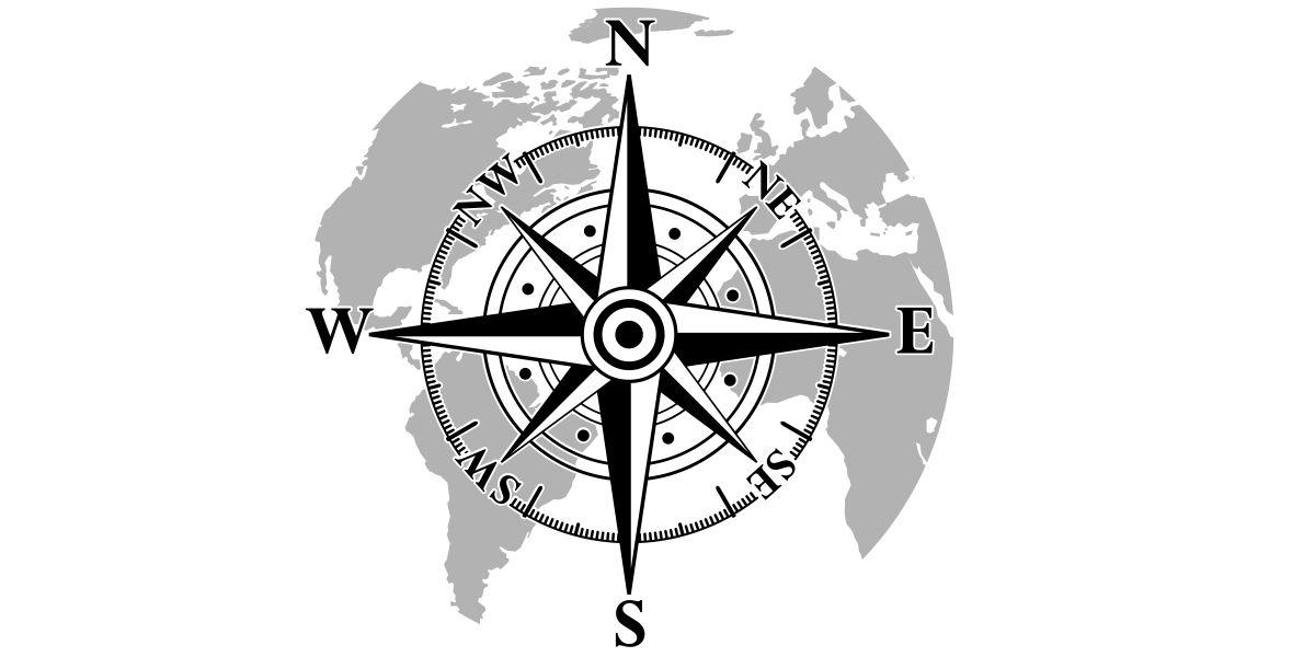 Sticker Für Camper Kompass Mit Weltkarte Camper Tipps
