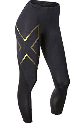 4f964a85f4 2XU Women's Elite MCS Compression Tights, Black/Gold, Large 2XU http:/