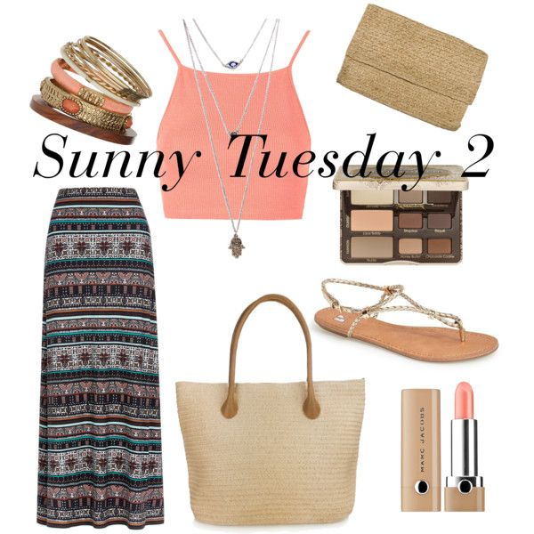 Sunny Tuesday 2 by ferrerchristine on Polyvore featuring polyvore, fashion, style, Topshop, Monsoon, BP., Hat Attack, Wallis, Wet Seal, Marc Jacobs and Too Faced Cosmetics