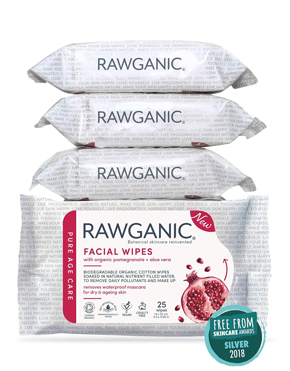 RAWGANIC Antiaging Facial Wipes Gentle Hydrating