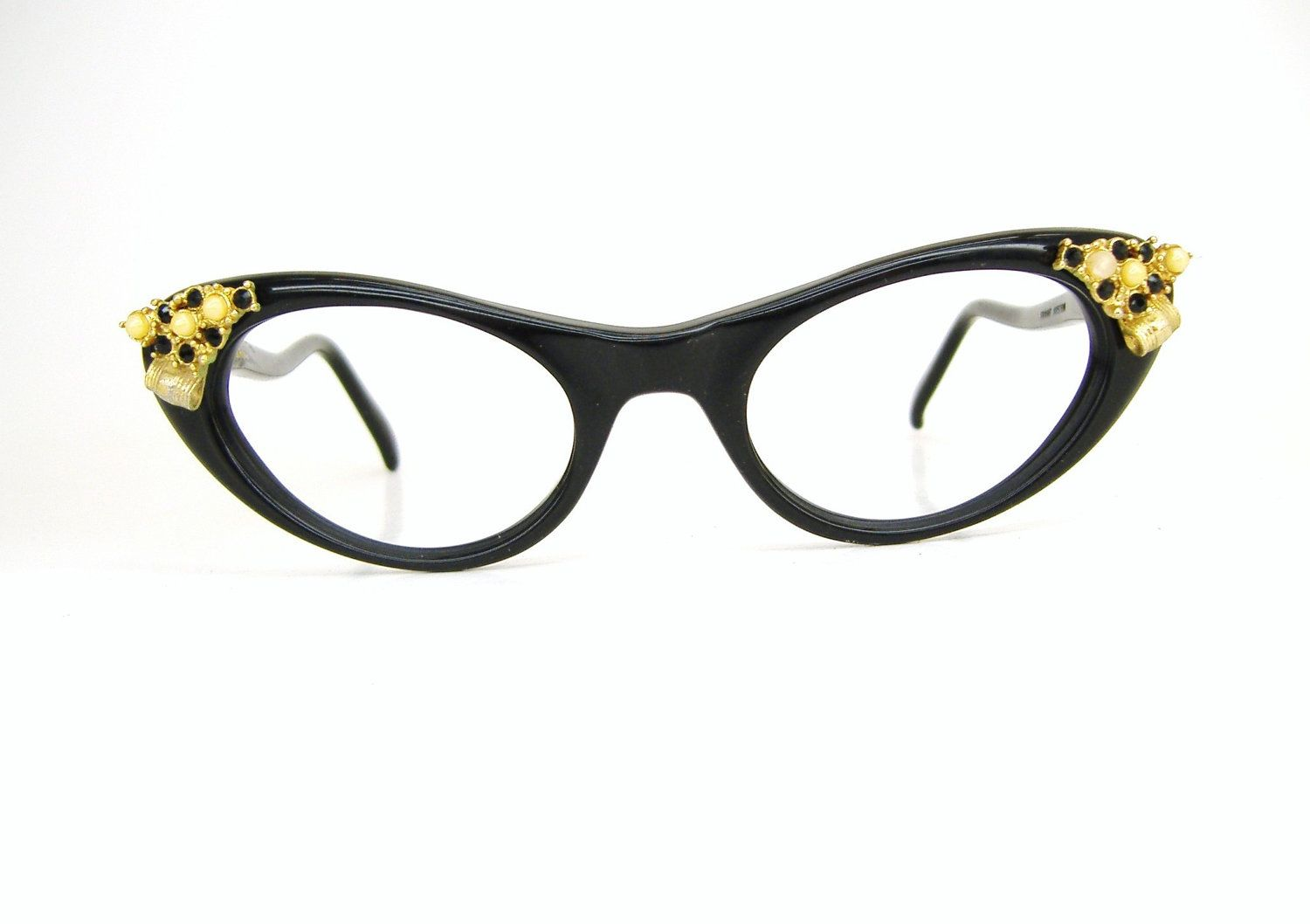 34c680fa8e4a Rare Vintage Cat Eye Christian Dior Blue Eyeglasses Frame Never Worn ...
