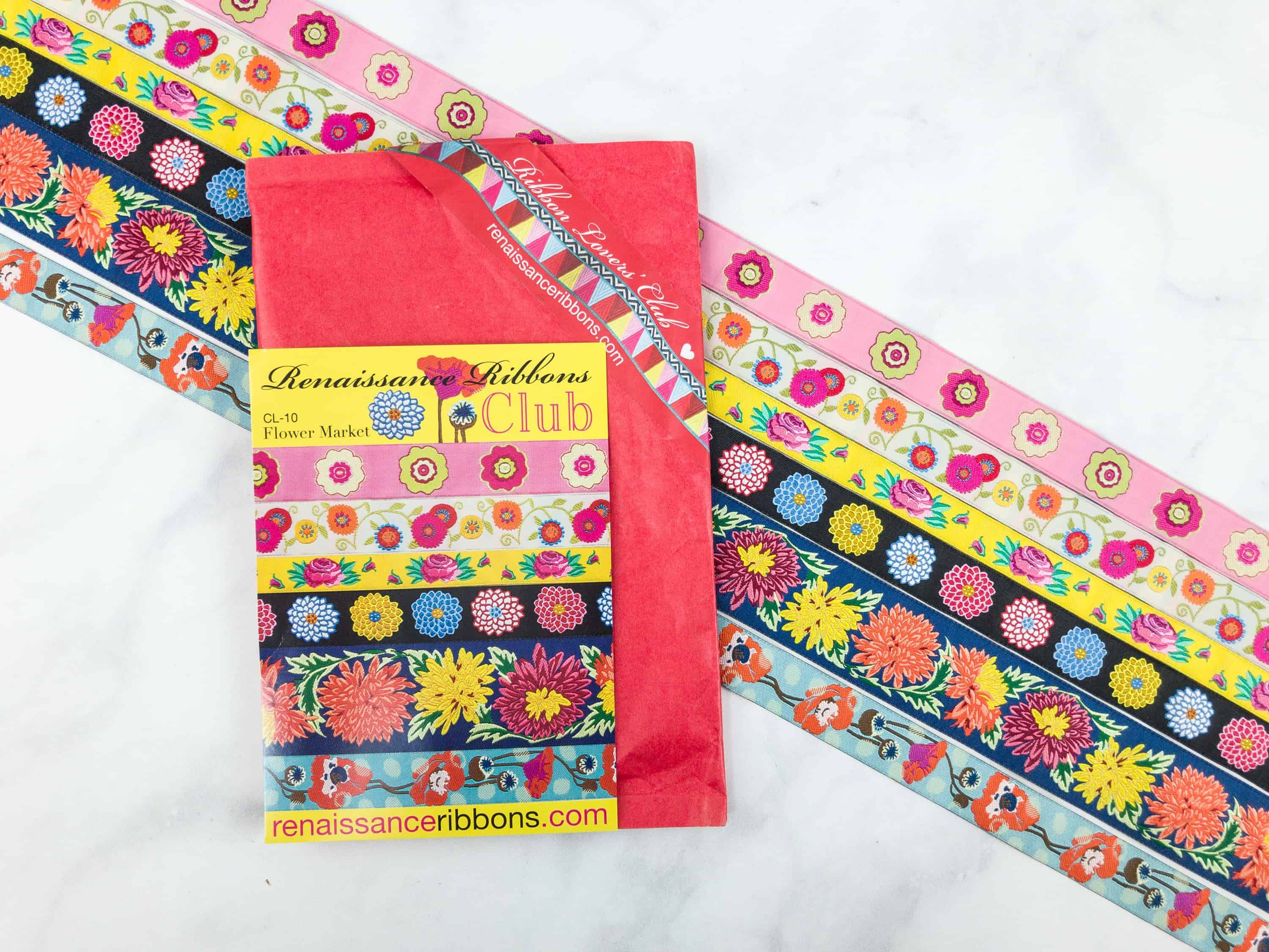 Colorful And Floral Themed Ribbons Are Included In Renaissance Ribbon