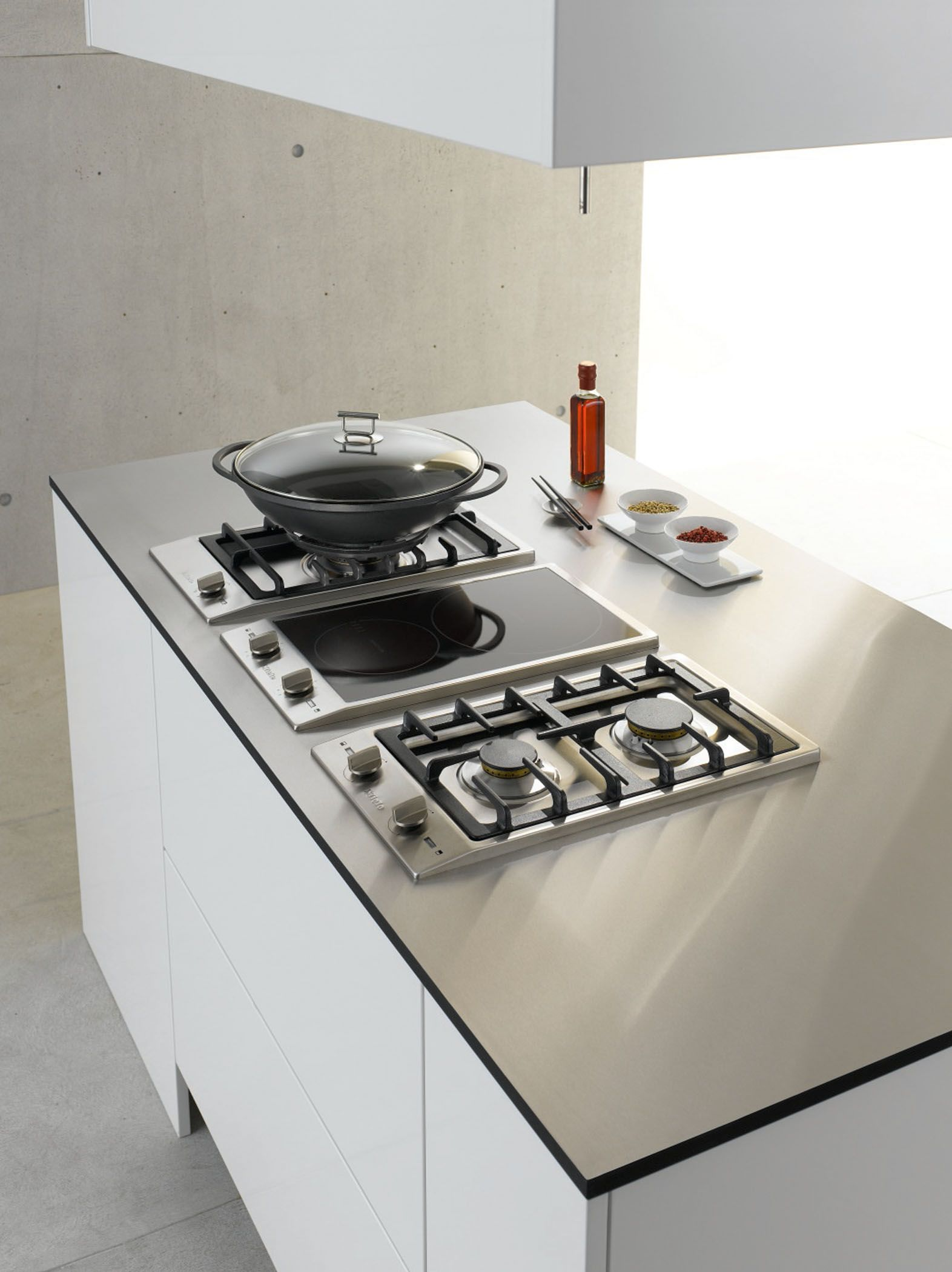 Miele Kitchen Design Miele Combiset Perfect Cooktop For Small Kitchens