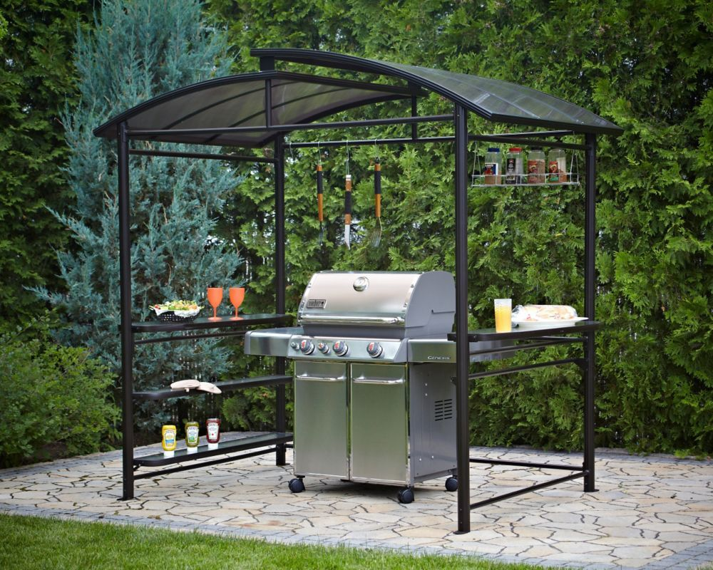 5 ft. x 8 ft. Grill Gazebo in Dark Chocolate Grill