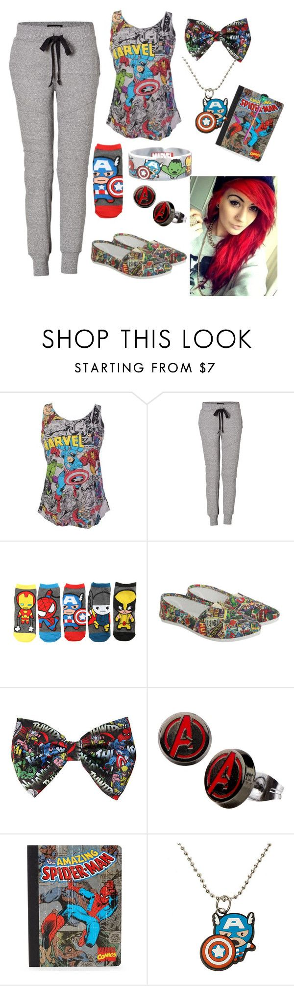 """Marvel Sleepover"" by nancyricothemusiclover ❤ liked on Polyvore featuring Current/Elliott and P.S. from Aéropostale"