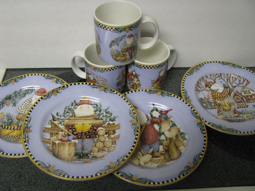 Debbie Mumm Christmas Dinnerware & Debbie Mumm Sakura ...