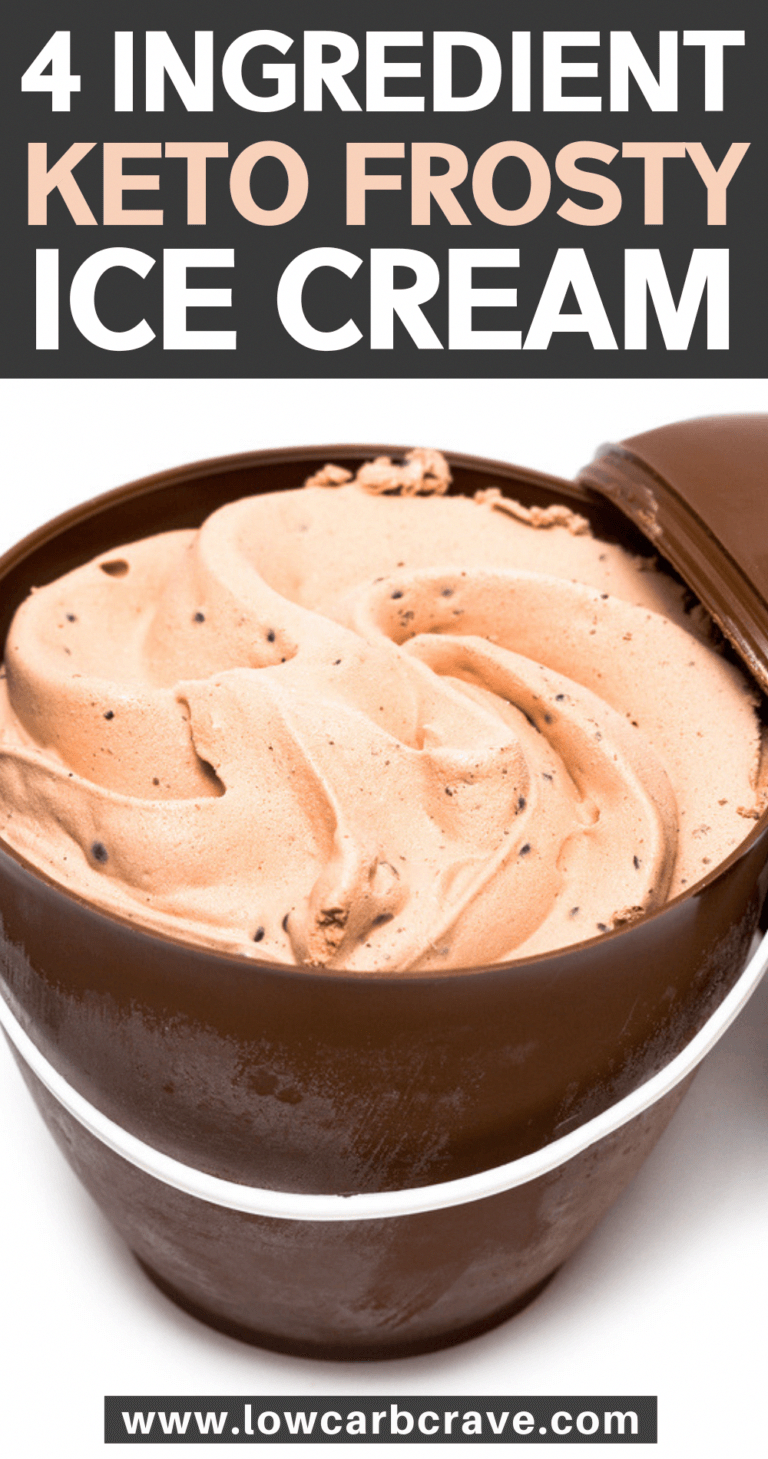 Keto Chocolate Frosty #chocolatefrosty