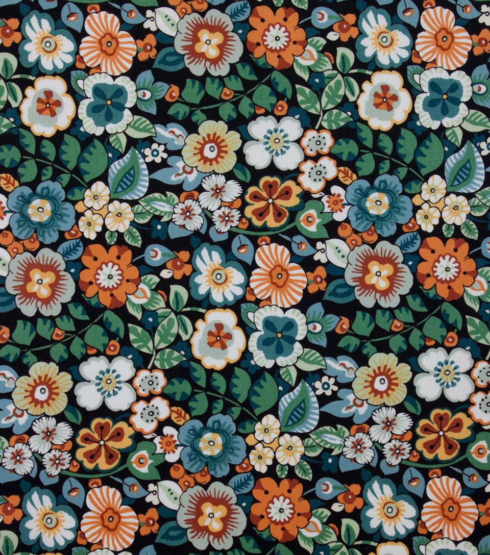 Alexander Henry Cotton Fabric-Rennie Black Ground | paint ideas ...