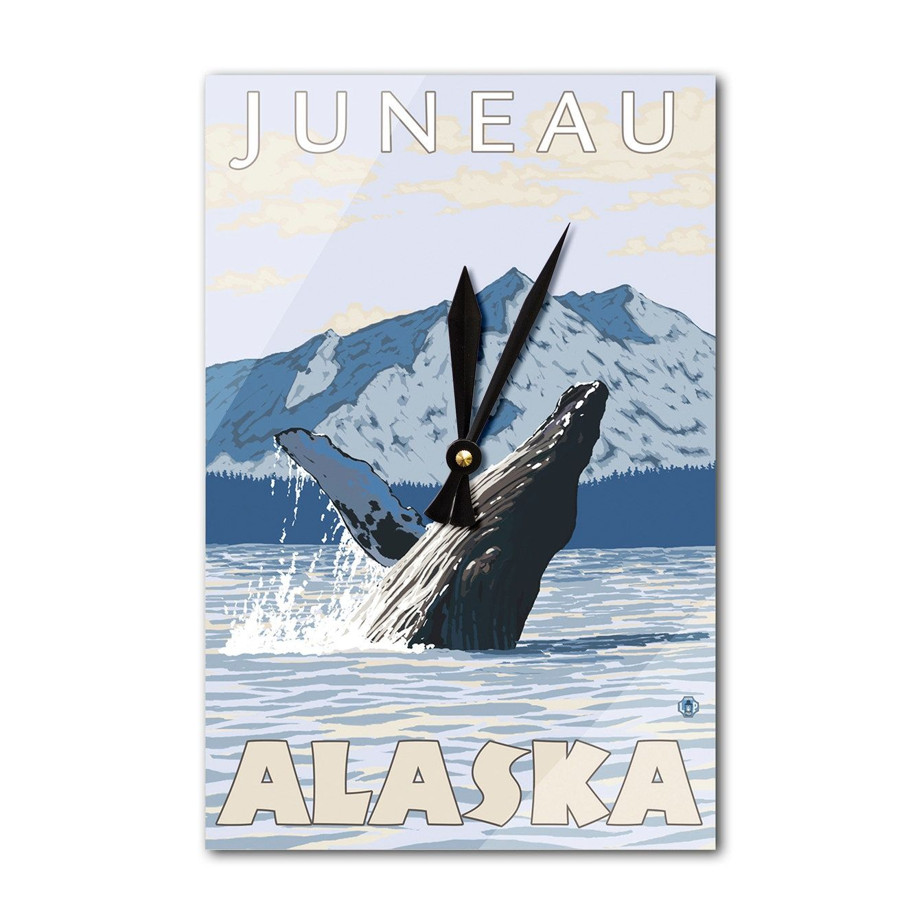 Juneau, Alaska Humpback Whale Lantern Press Artwork