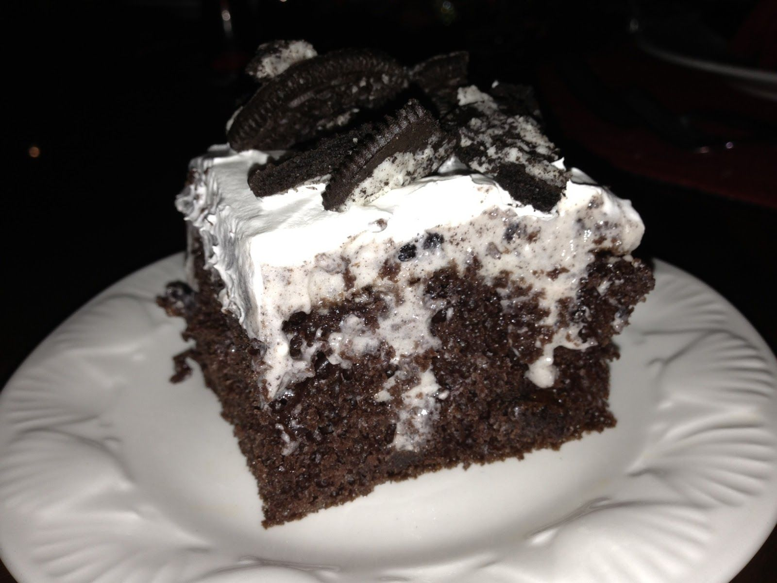 Dessertation Oreo Pudding Poke Cake Neat Treats Pinterest