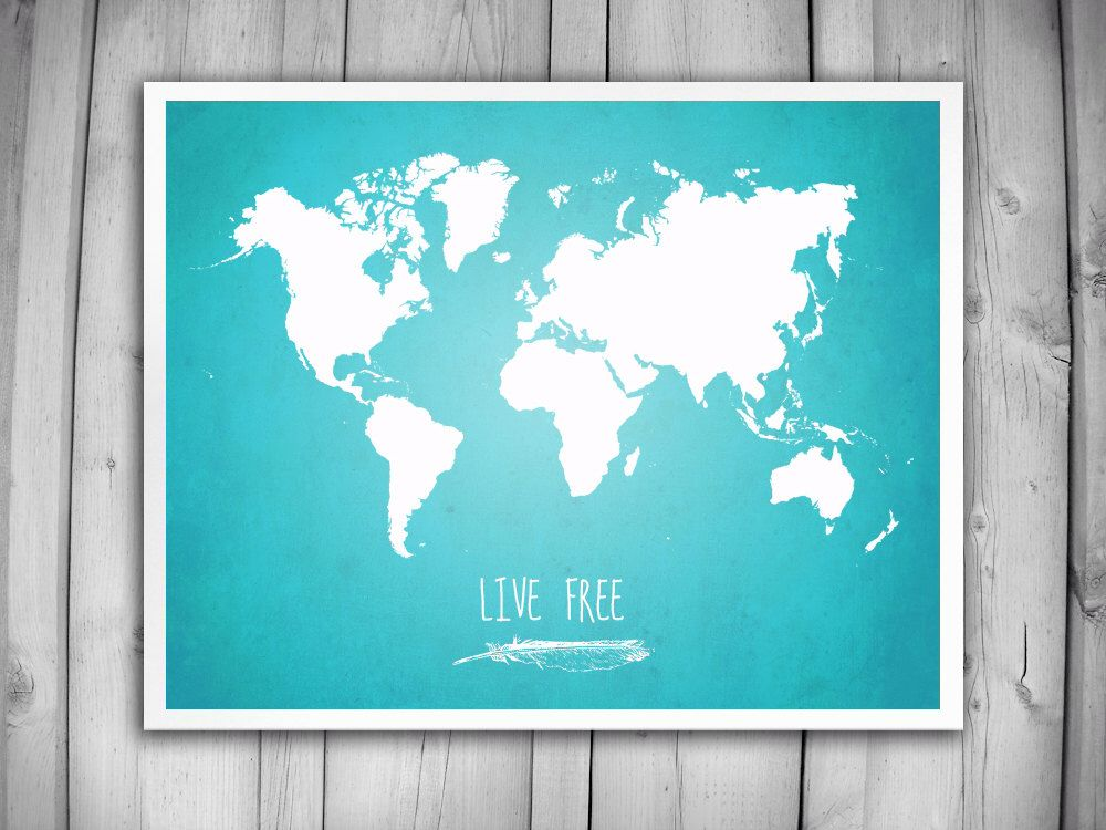 World map poster live free world map map of the world map decor world map poster live free world map map of the world map decor world map art world poster giant world map travel poster live free gumiabroncs Image collections