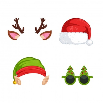 Download New Year S Masks For Photos For Free Vector Free Elf Images Santa Claus Vector