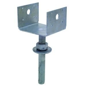 Simpson Strong Tie Epb Galvanized Elevated Post Base With Threaded Rod For 4x4 Epb44t The Home Depot In 2020 Pier Blocks Wood Post Ornamental Wood