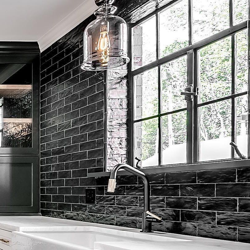 Https Www Instagram Com P Binwzkon94l Igshid Wgp5rk4877hz In 2020 Kitchen Faucet Black Subway Tiles Matte Black Kitchen Faucet