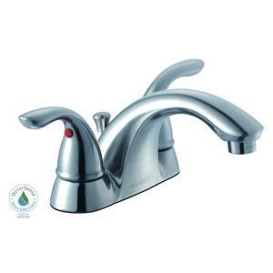 2-Handle Low Arc Bathroom Faucet in Brushed Nickel 7032EC-A8104 Glacier Bay Builders 4 in