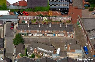 Coronation Street set from the air