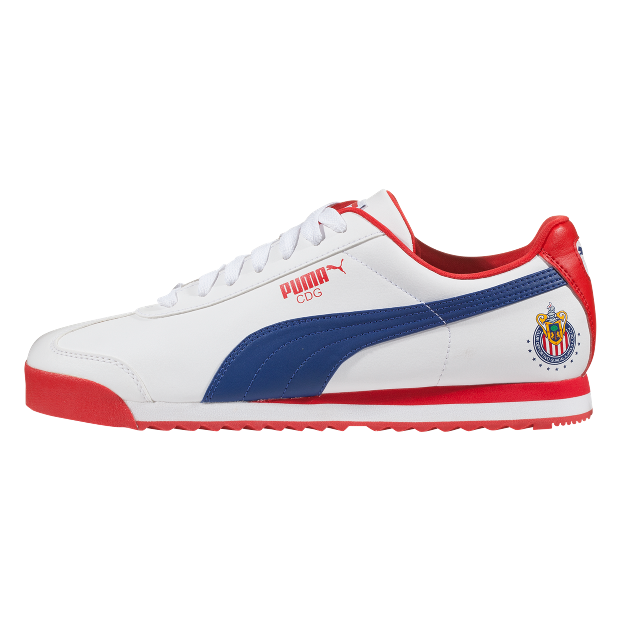 1b61582f8a6a90 PUMA Roma CDG Lifestyle Shoe Puma White Limoges High Risk Red-6.5 in ...