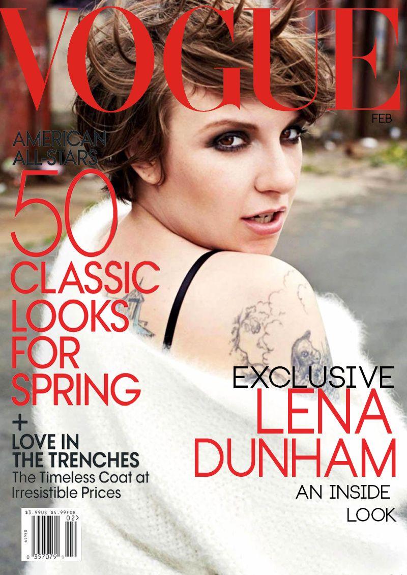 Dunham lena stars on november harpers bazaar catalog photo