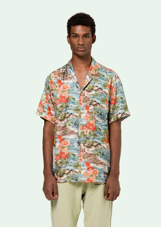 01494221 OFF-WHITE Hawaiian Shirt | All Things Good | White hawaiian shirt ...