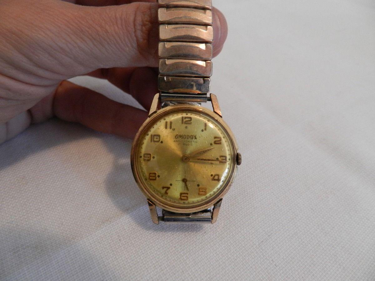 cc0c242384b Relógio Antigo De Pulso Omodox Suiço 17 Rubis Masculino Relogios Antigos De  Pulso