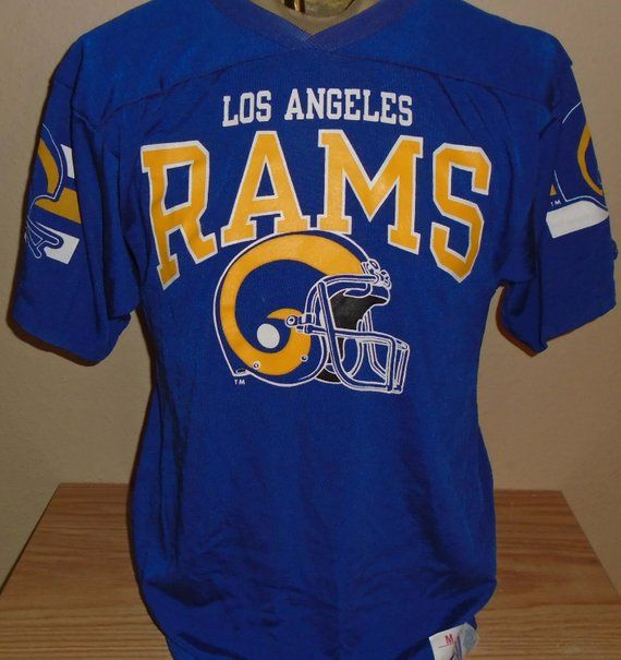 sale retailer 57cd2 8555f vintage 1980s Los Angeles Rams football t shirt Jersey ...