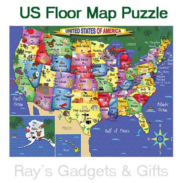 U S Map Floor  Jigsaw Puzzle - 48pc