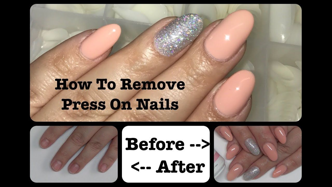 How To Remove Press On Nails Without Damage Glue On Nails Full Tips Glue On Nails Nails Press On Nails