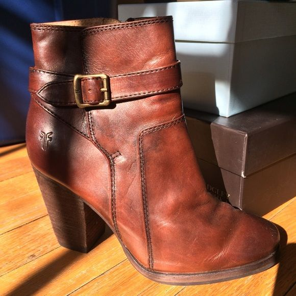 Frye patty booties size 6 worn once Worn once for an hour, patty booties frye size 6 fab condition as seen in photos Frye Shoes Ankle Boots & Booties