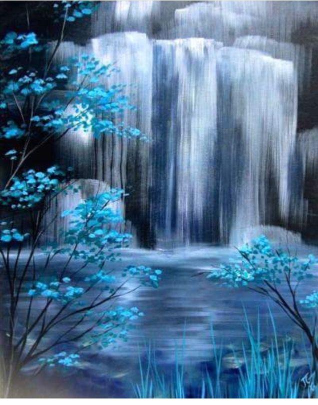 Paint Waterfall Waterfall Paintings Landscape Paintings Art