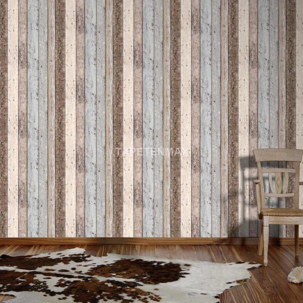8550-39 New England - AS Creation Vliestapete Holz-Imitat braun