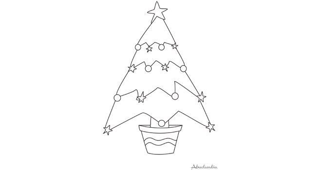 El árbol de Navidad | Hojas para colorear | Pinterest | Colorear, El ...