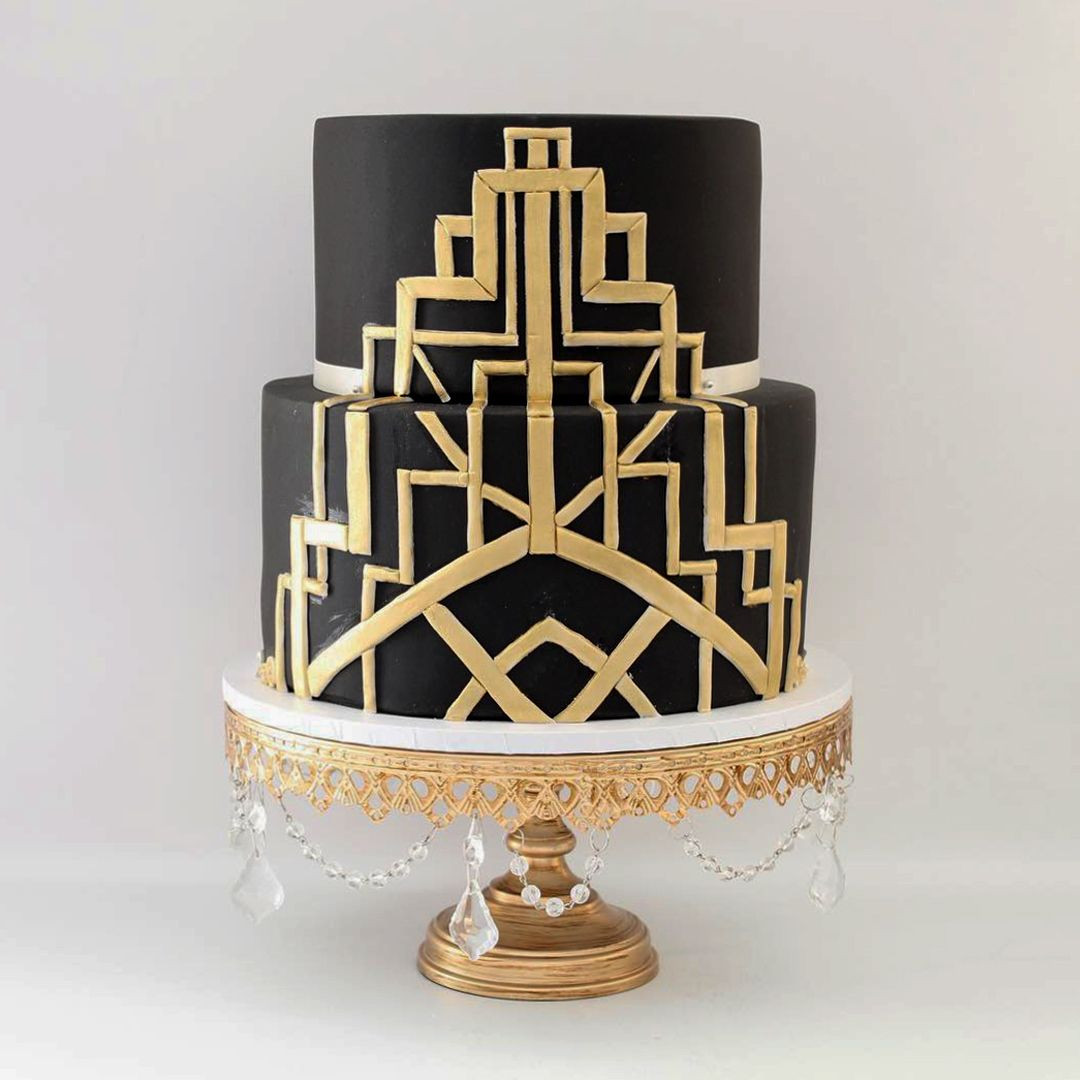 3piece glass top crystal cake stand set gold savoury