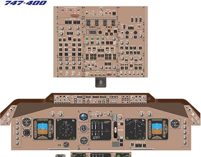 Check out new work Boeing 747400 Cockpit Training    Diagram    Available as an A0 printed poster or