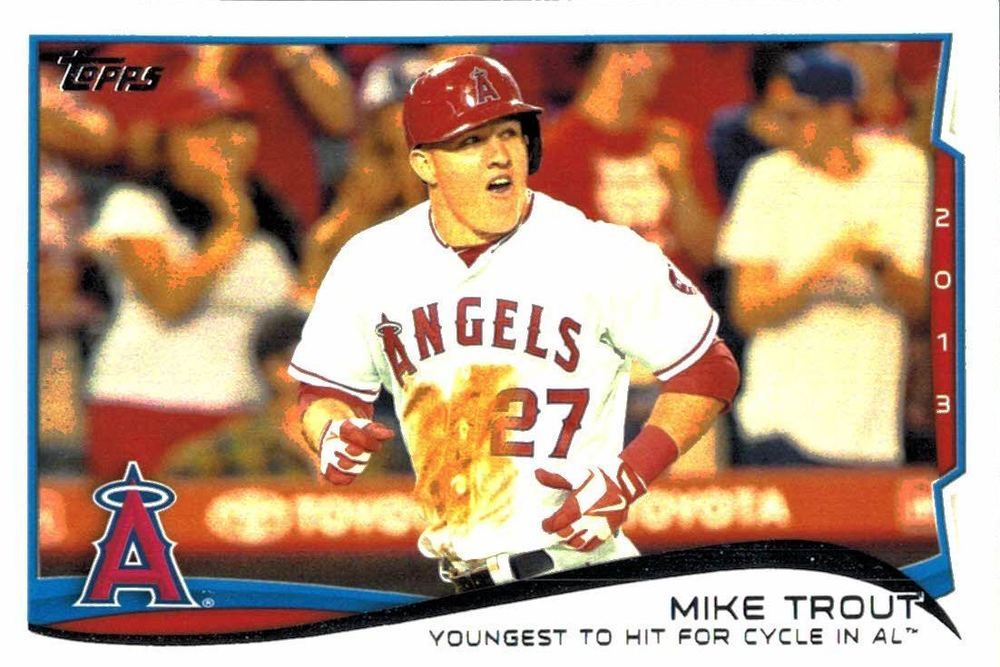 2014 topps mike trout series two checklist card los