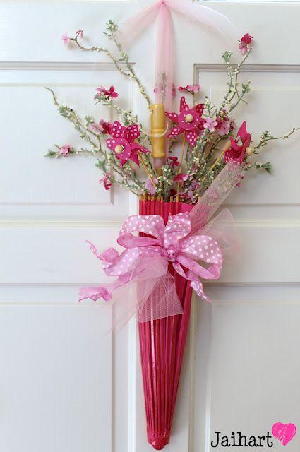 """Spring Umbrella """"Wreath"""""""