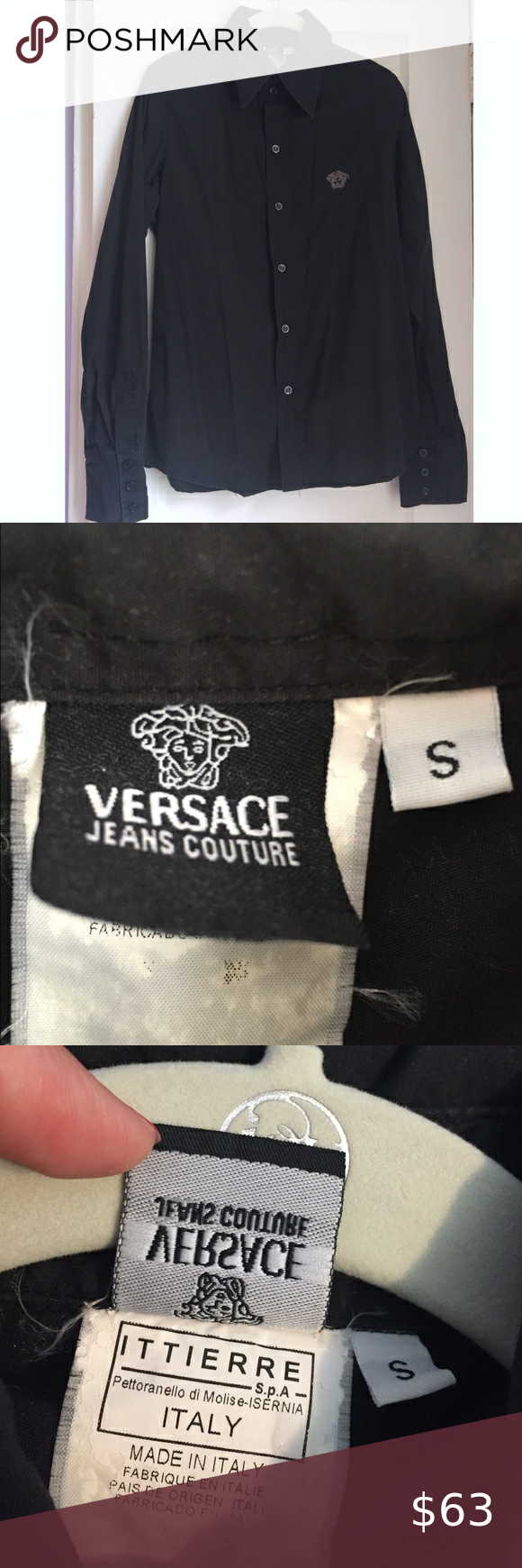Versace Jeans Couture Button Down Shirt Size S Versace Jeans Couture Versace Jeans Couture