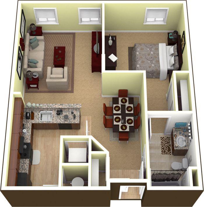 Departamento para pareja el bryan planos de casas for Apartamentos pequenos planos