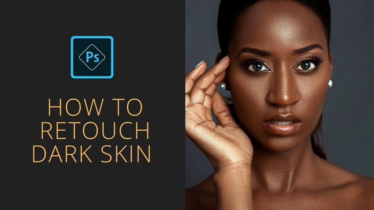 How to retouch dark skin advanced freequency separation